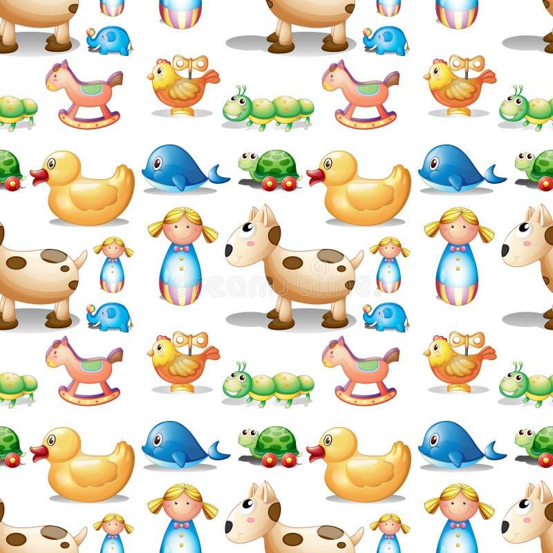 Download Een Naadloos Ontwerp Met Speelgoed Stock Illustratie - Illustratie bestaande uit patroon, gevormd: 39116973