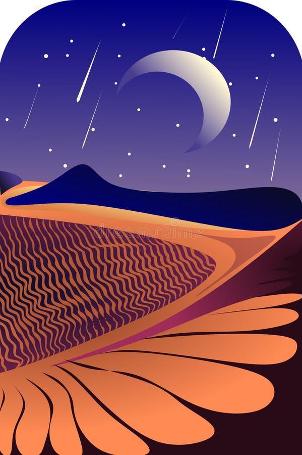 Een nacht in de woestijn stock fotografie