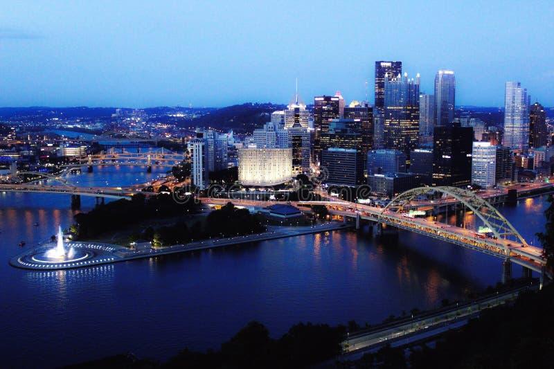 Een Nacht in Pittsburgh stock afbeeldingen