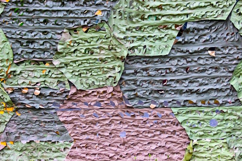 Een netto tricolorcamouflage royalty-vrije stock afbeeldingen