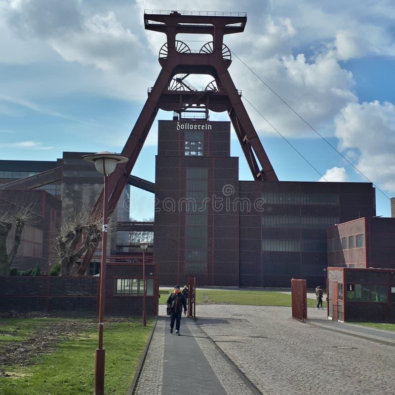 Een niet meer gebruikte kolenmijn in Duitsland royalty-vrije stock foto