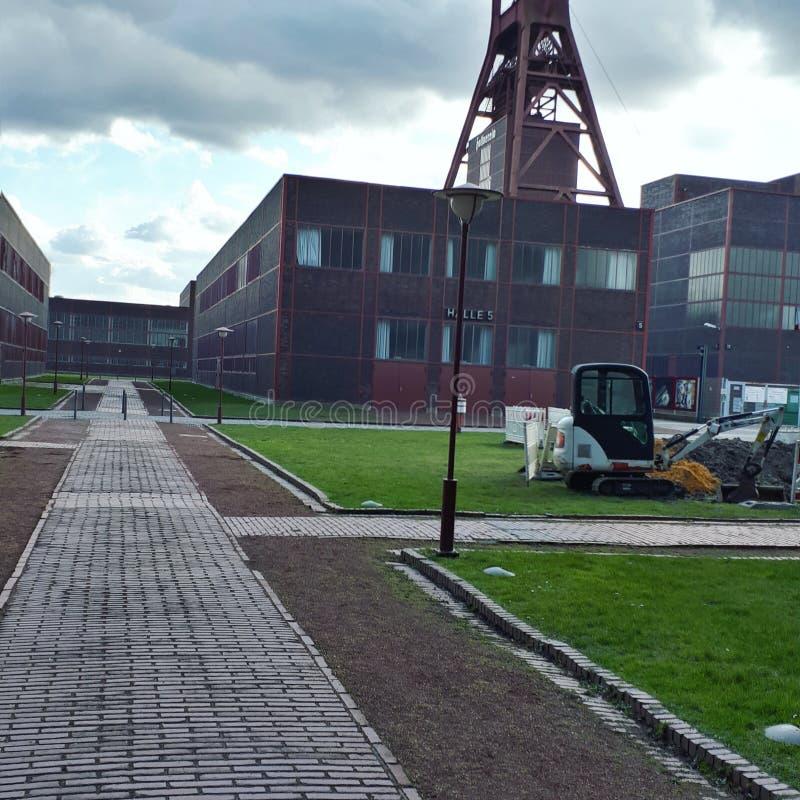 Een niet meer gebruikte kolenmijn in Duitsland stock foto