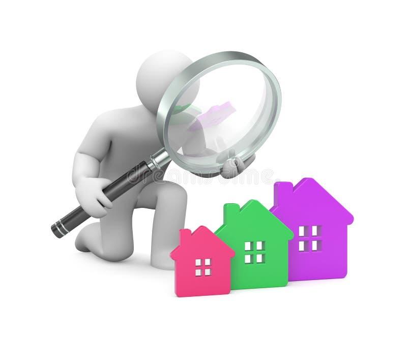 Een nieuw huis zoek stock illustratie