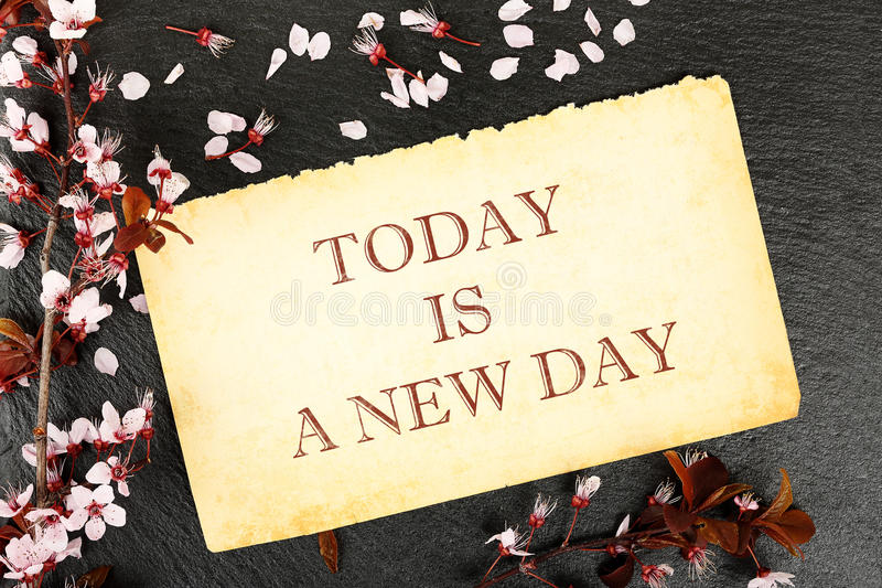 Een nieuwe dag stock afbeelding