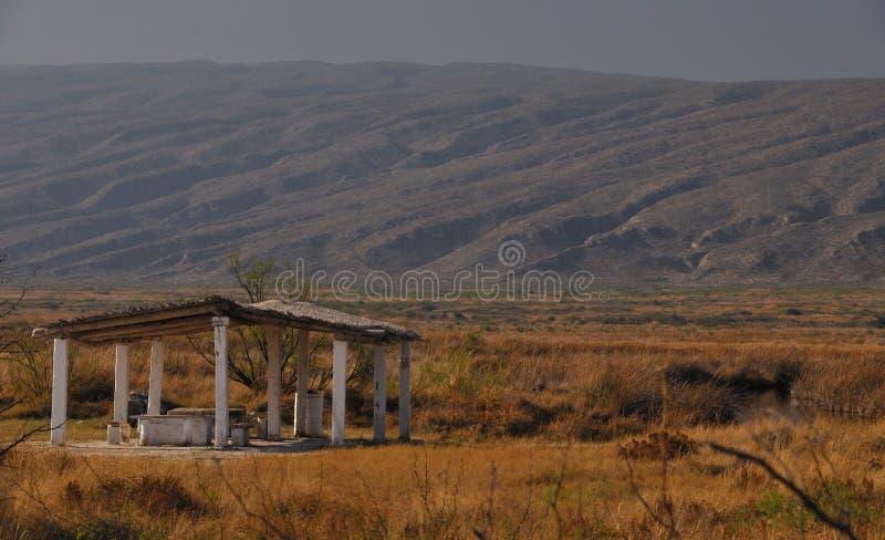 Een oase in de woestijn royalty-vrije stock afbeeldingen