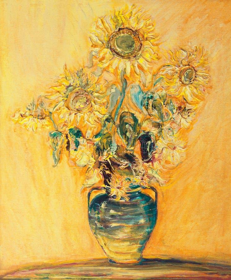 Het Boeket van zonnebloemen royalty-vrije illustratie