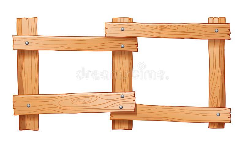 Een omheining van hout wordt gemaakt dat vector illustratie