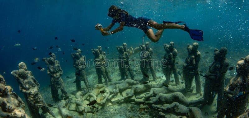 """Een onderwaterbeeldhouwwerk in Indonesië geroepen """"Nest royalty-vrije stock foto"""