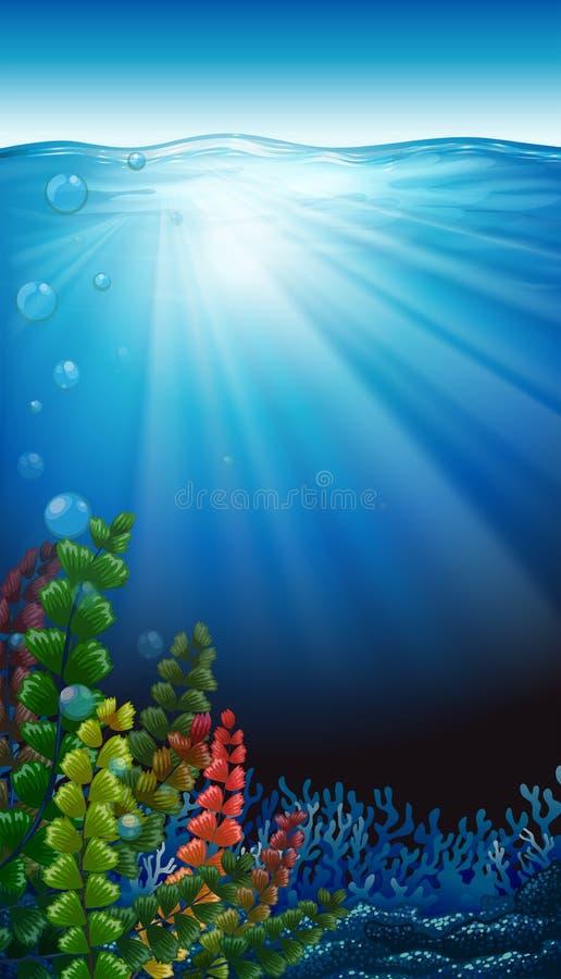 Een onderwaterlandschap stock illustratie