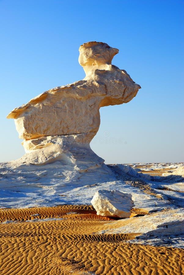 Een ongebruikelijke kalksteenklip in de woestijn royalty-vrije stock fotografie