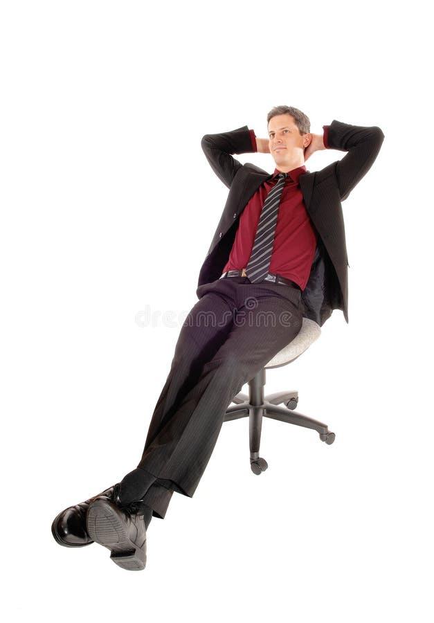 Een ontspannende zakenman royalty-vrije stock foto's
