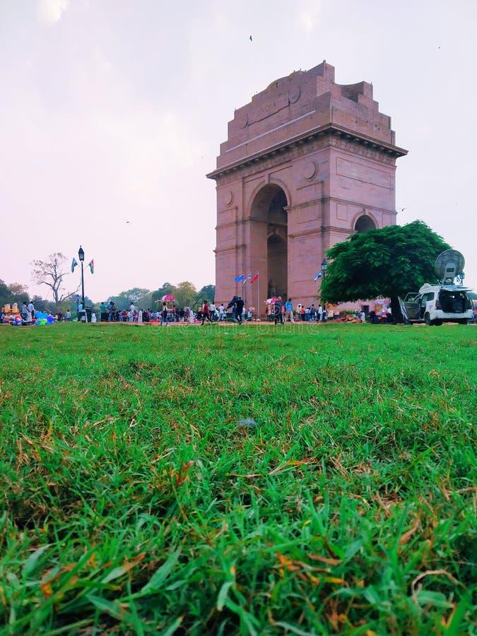 Een oorlogsgedenkteken, de poort van India stock fotografie