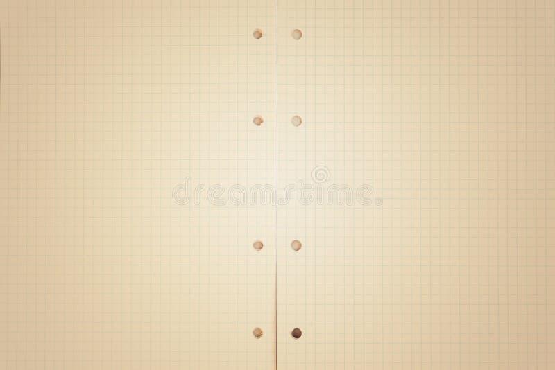 Een open leeg notitieboekje, pagina's in een kooi royalty-vrije stock fotografie