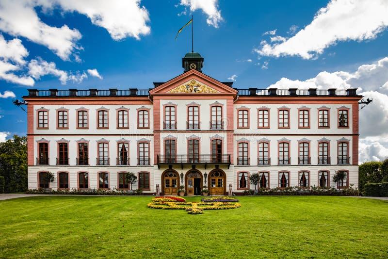 Een openbaar kasteel, Tullgarns Slott, Zweden stock fotografie