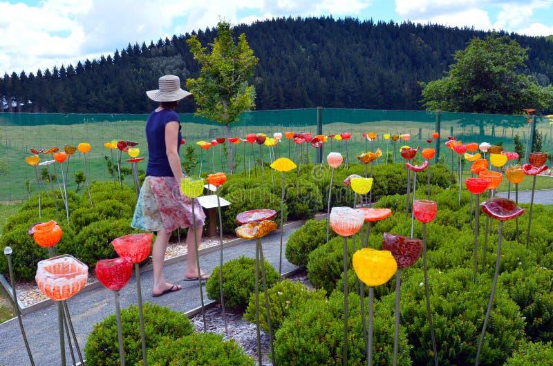 Een openluchtglastuin dichtbij Taupo, Nieuw Zeeland royalty-vrije stock afbeelding
