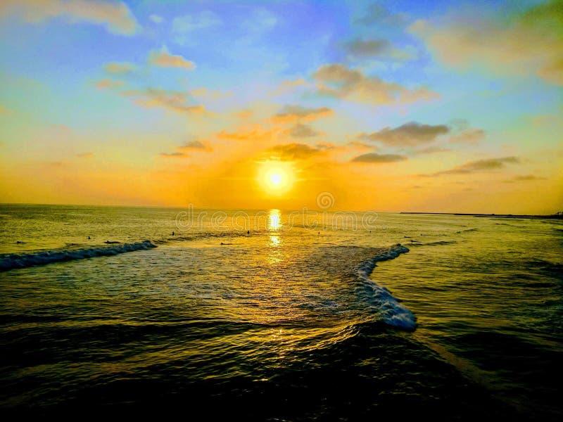 Een Opmerkelijke Zonsondergang stock fotografie