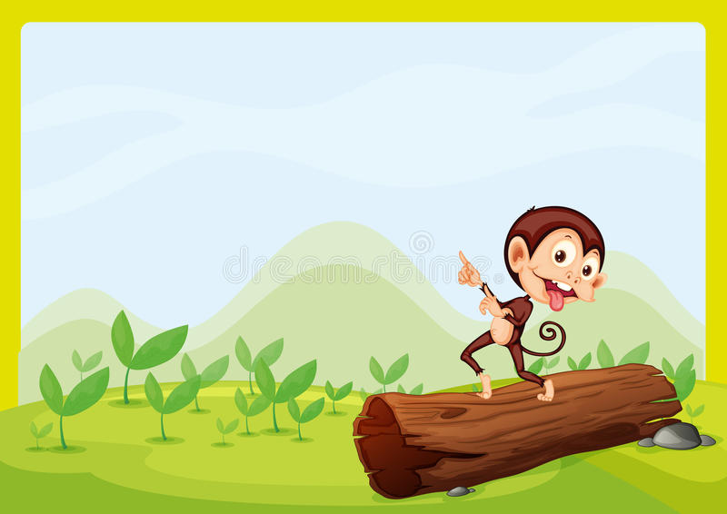 Een opschepperige aap vector illustratie