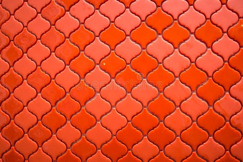 Een Oranje gevormde tegels Thaise stijl stock fotografie