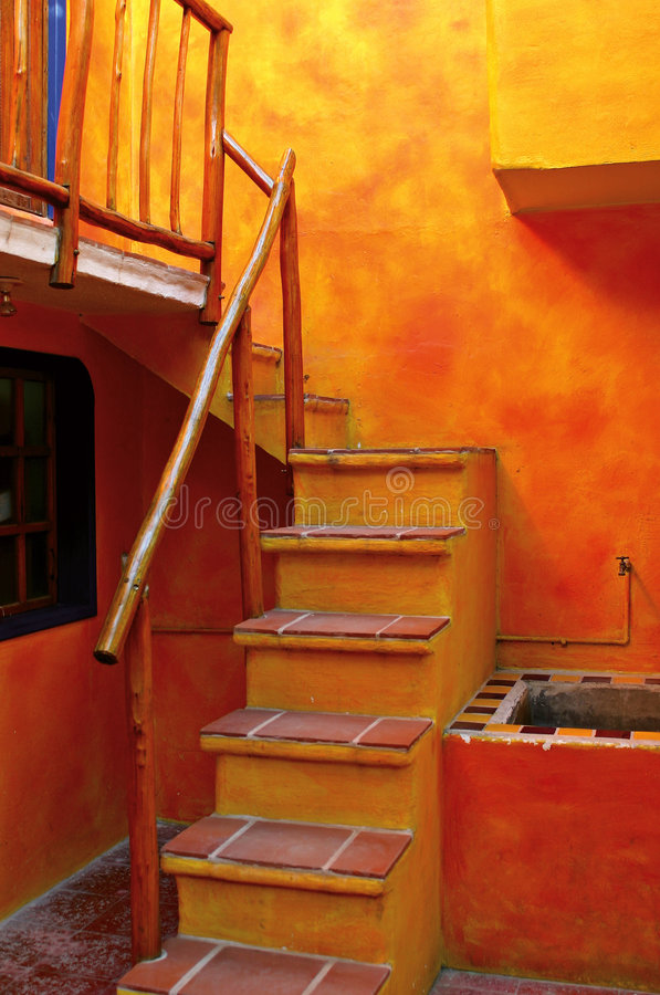 Een oranje Trap stock fotografie