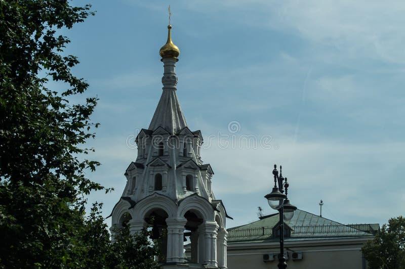 Een Orthodoxe Kerk in Moskou royalty-vrije stock afbeeldingen