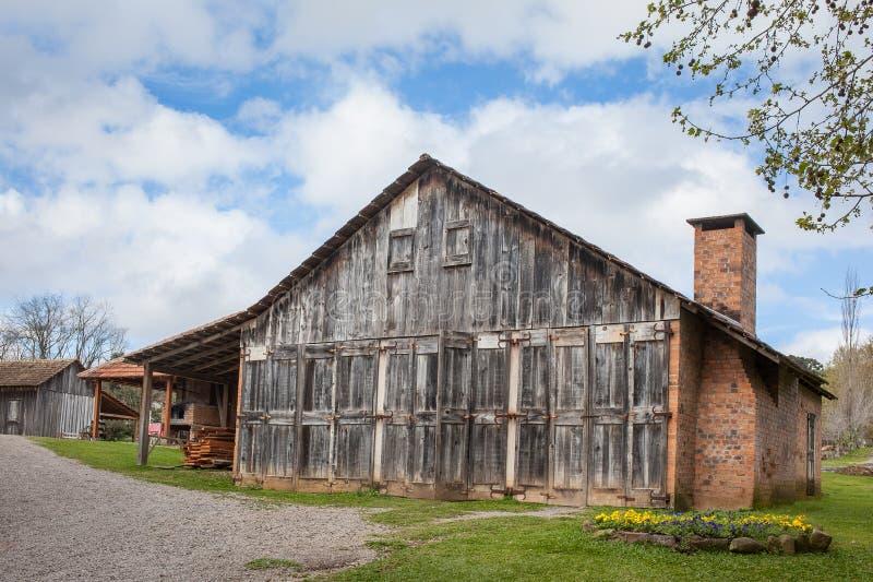 Een oud blokhuis in Rio Grande doet Sul - Brazilië royalty-vrije stock fotografie