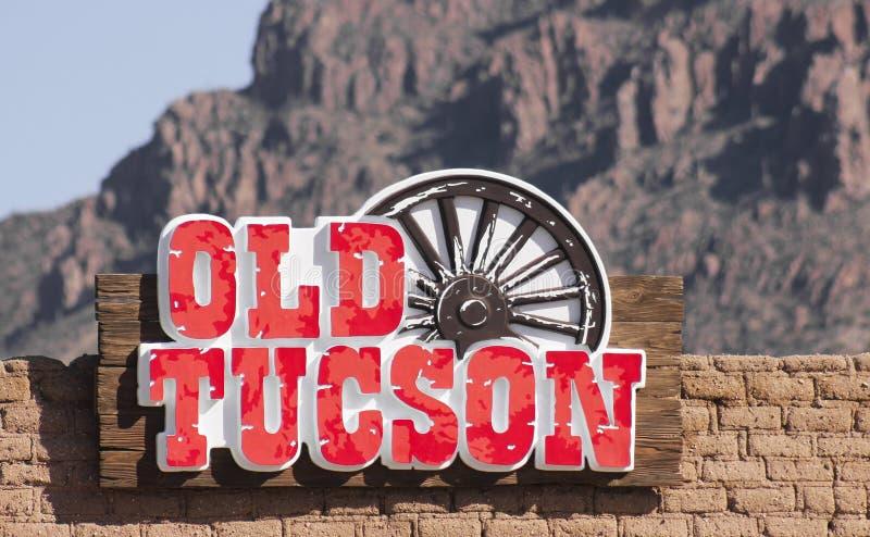Een Oud de Ingangsteken van Tucson, Tucson, Arizona royalty-vrije stock fotografie