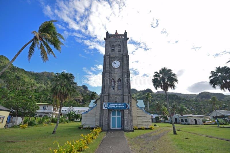 Een oud gebouw in Levuka, Ovalau-eiland, Fiji dat om een kerk wordt verondersteld te zijn stock fotografie