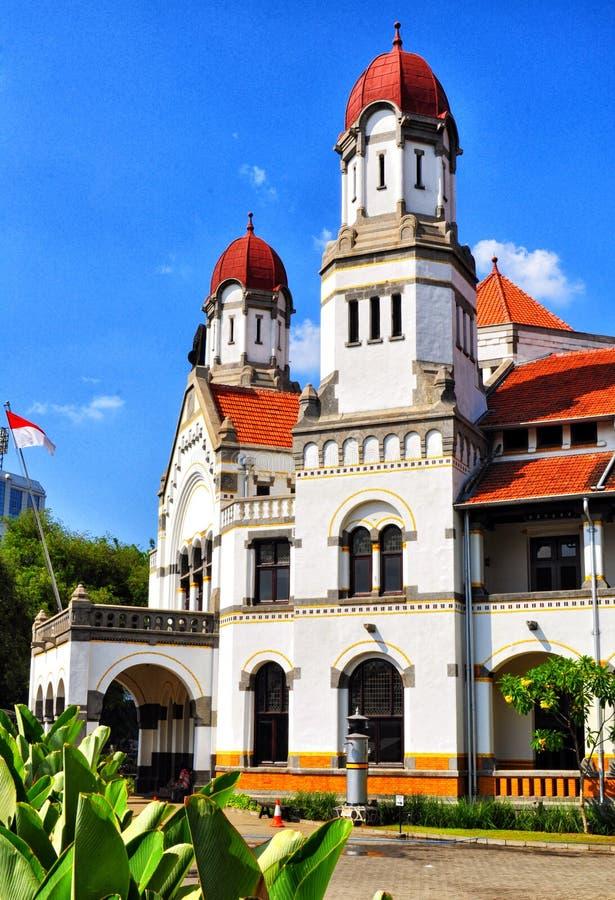 Een oud gebouw riep ` LAWANG SEWU ` in Semarang, Centraal Java stock foto's