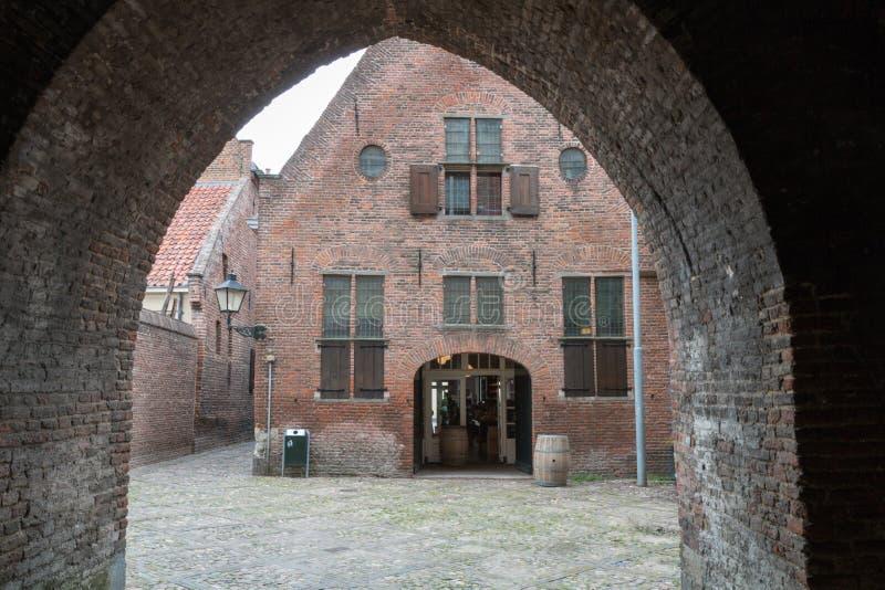 Een oud gebouw in Zutphen in Nederland royalty-vrije stock foto's