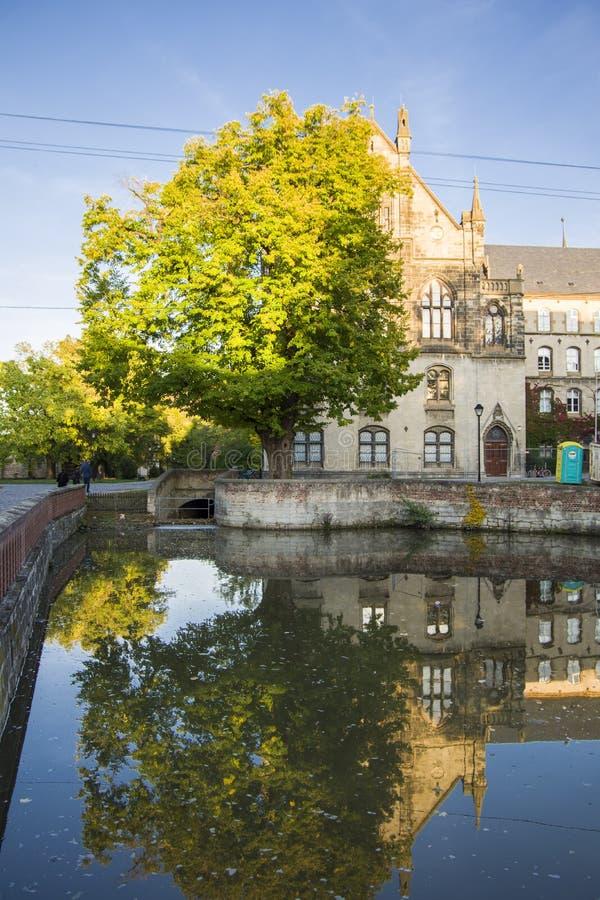 Een oud Katholiek klooster dat nu Landesschule Pforta, Internatsgymnasium huisvest Toeristenplaats Saksen-Anhalt, Duitsland royalty-vrije stock fotografie