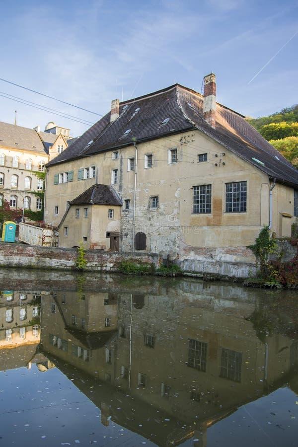 Een oud Katholiek klooster dat nu Landesschule Pforta, Internatsgymnasium huisvest Toeristenplaats Saksen-Anhalt, Duitsland stock fotografie