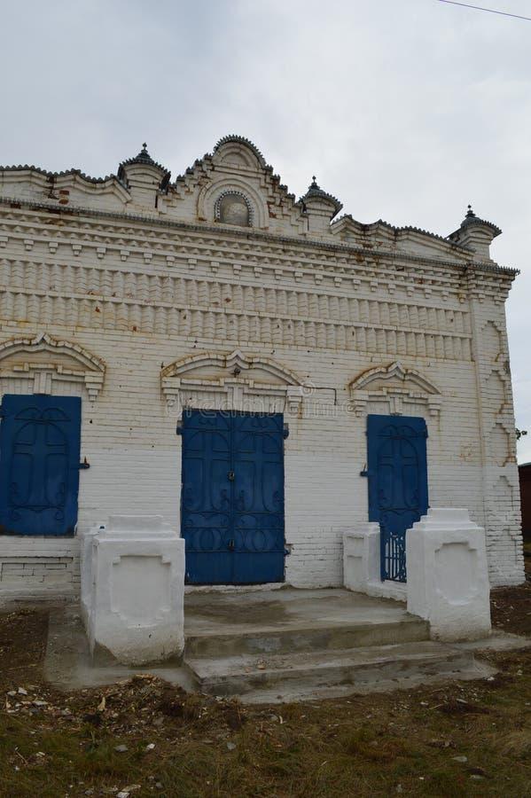 Een oud koopvaardijgebouw van ` s royalty-vrije stock afbeelding