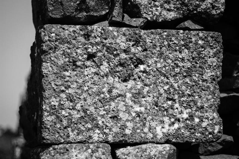 Een oude baksteen stock afbeelding
