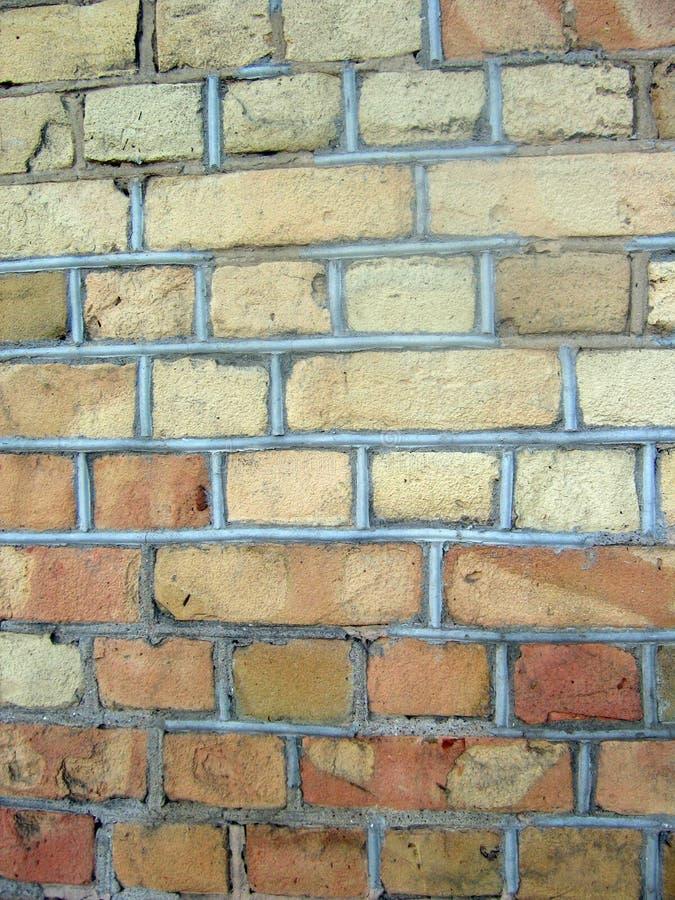 Een oude bakstenen muurachtergrond stock afbeelding