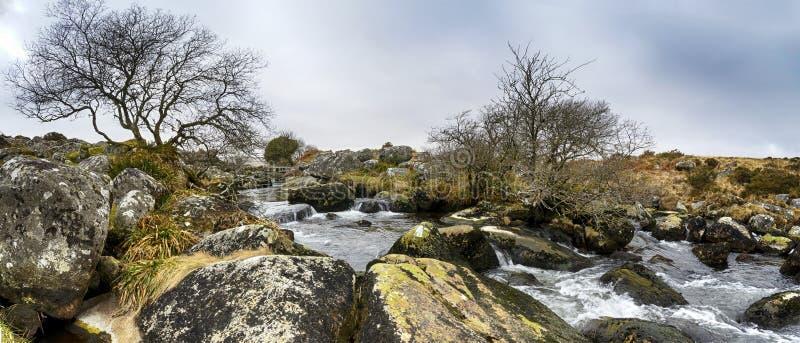 De Beek van Walla op Dartmoor stock foto's