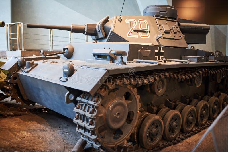 Een oude Duitse tank van Wereldoorlog II royalty-vrije stock afbeeldingen