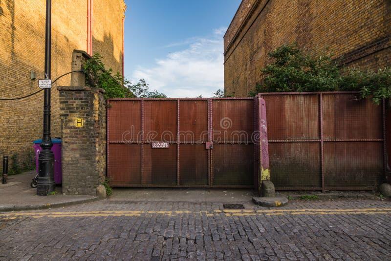 Een oude gat aan zwaanwerf, Londen, royalty-vrije stock afbeelding