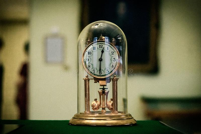 Een oude klok in het Museum royalty-vrije stock foto's