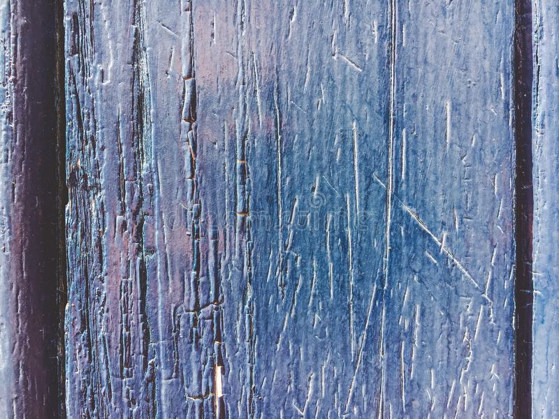 Een oude marineblauwe kleur van houten muur met zonlicht voor achtergrondtextuur stock foto