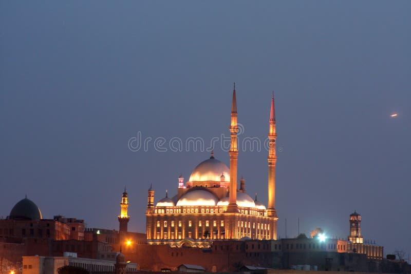 Een oude moskee in Kaïro stock foto