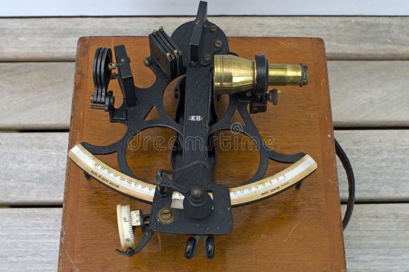 Een oude Sextant Sextan - het Overzeese Instrument van de Navigatie royalty-vrije stock afbeeldingen