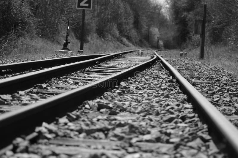 Een oude spoorweg van Frankrijk royalty-vrije stock afbeelding