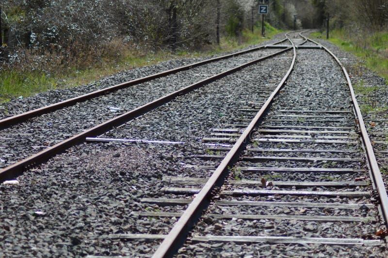 Een oude spoorweg van Frankrijk royalty-vrije stock fotografie