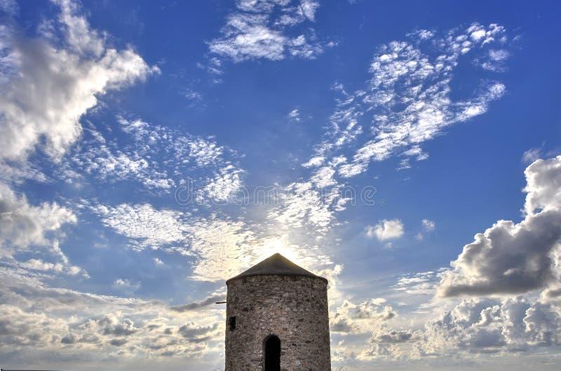 Een oude windmolen royalty-vrije stock afbeelding