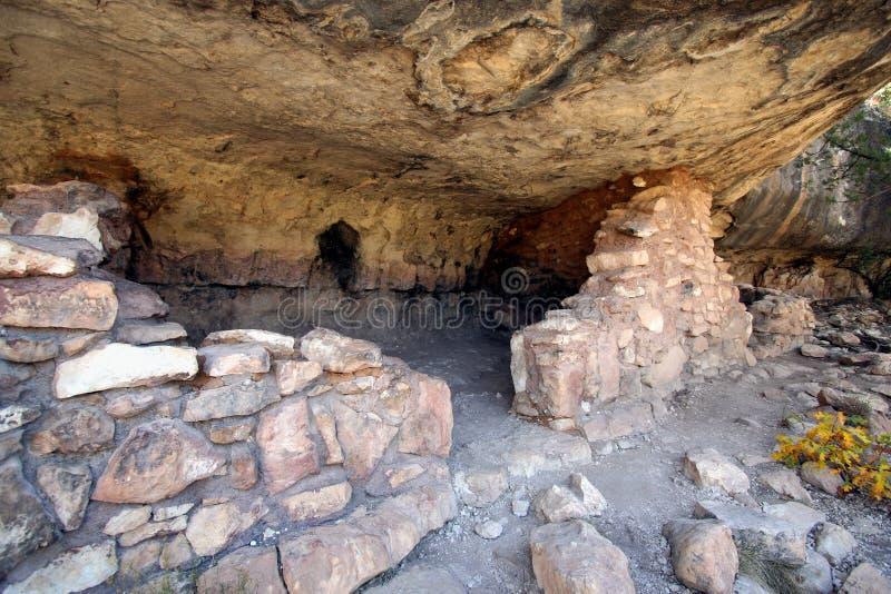 Een oude Woning van de Klip Sinagua stock afbeelding