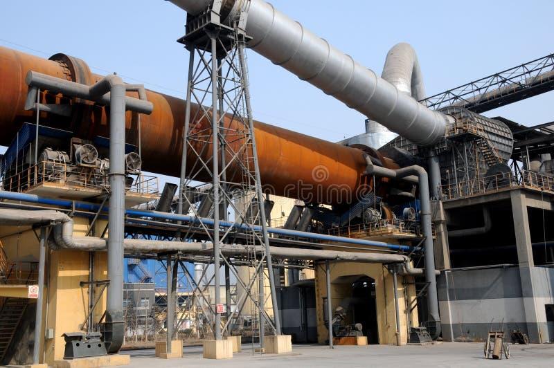Download Een Oven Van Het Droog-proces Roterende Cement Stock Foto - Afbeelding bestaande uit neus, vuren: 29512482