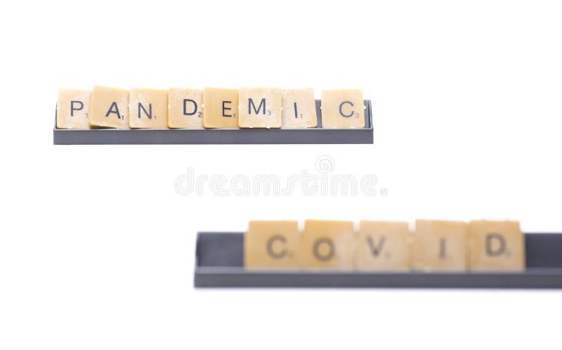 Een overweldigende pandemie stock foto's