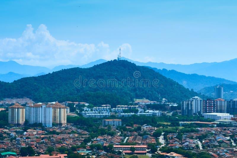 Een overzicht van Ampang-voorstad, Kuala Lumpur stock foto's
