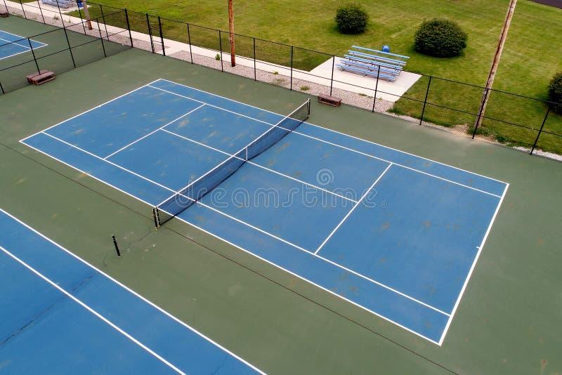 Een overzicht van een tennisbaan royalty-vrije stock afbeelding