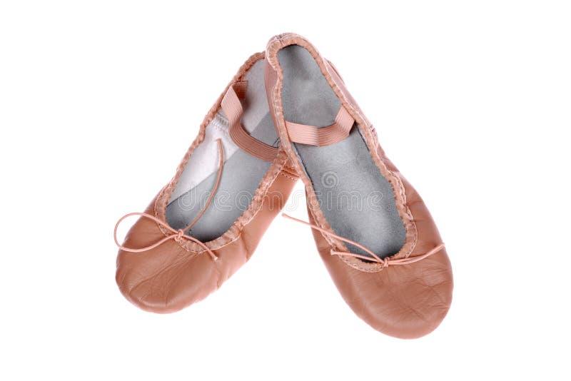 Een paar balletschoenen stock afbeeldingen